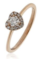 18CT Rose Gold Diamond Heart Ring New & Hallmarked with 0.30CT of Diamonds