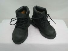 SUPER CLEARANCE BOY TODDLER TIMBERLAND BLACK WORK BOOTS SIZE 6
