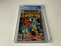 SPECTACULAR SPIDER-MAN 22 CGC 9.4 WHITE PAGES MOON KNIGHT MARVEL COMICS 1978