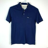 RM Williams Blue Stockyard Polo Shirt Size Men's Large