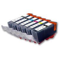 6x Tinte Drucker Patronen für CANON CLI526GY C M Y PGI525PGBK inklusive Chip