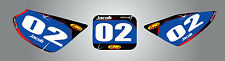 Honda CRF 50 - 2004 - 2012 Custom Number Plate graphics Barbed style stickers