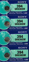 4 Sony 394 Watch and Calculator Batteries