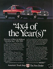 "1995 Dodge Ram ""4X4 of the year"" Pickup Truck Print Ad"