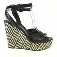 Vince Camuto Womens Wedge Sandals 10 Platform Very High Heels Ankle Strap Buckle