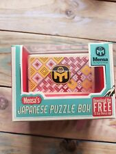 Mensa Wooden Japanese Puzzle Box - 12 Steps Free Postage