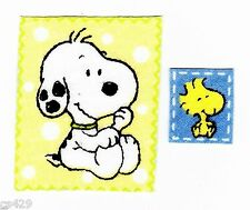 "2"" BABY SNOOPY MARBLES & WOODSTOCK SET  CHARACTER  FABRIC APPLIQUE IRON ON"