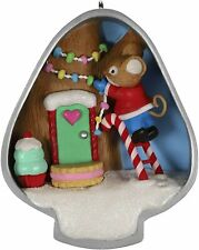 Hallmark 2019 Cookie Cutter Christmas Mouse Inside Lightbulb w/ Candy Ornament