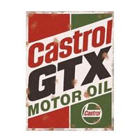 Metal Garage Sign Castrol GTX Vintage Advertising Classic Shed Plaque Sex Rustic