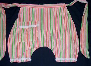 Stripes Bloomer Shorts look  ½  Apron 1 of a kind EUC vintage bright