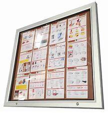 Outdoor Lockable Notice Board Corkboard Weather Proof 12xA4