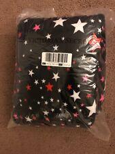 New Victoria's Secret Pink & Black & Stars 2018 Sherpa Blanket Limited Edition !