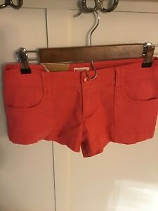 Mossimo Juniors Women Chino Shorts Size 1 Fit 6 Coral cotton blend low rise