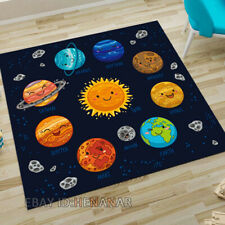 Universe Planet Carpet Floor Mat Home Chair Drum Kit Area Rug Square Non-slip
