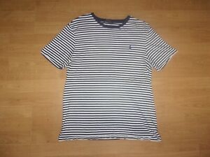 Ralph Lauren Polo, Navy Blue & White striped mens T-shirt size L
