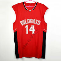 Zac Efron #14 Troy Bolton East High School Wildcats Basketball Jersey Red