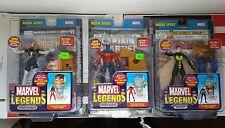 MARVEL LEGENDS (MODOK Series) Wasp, Captain Marvel variant, Spiderwoman variant