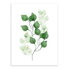 Eucalyptus Leaf Canvas Poster Nordic Style Art Painting Wall Picture Decor M