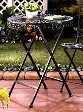 """""""FLEUR DE LIS"""" IRON BISTRO STYLE PATIO TABLE ** INDOOR/OUTDOOR  ** NIB"""