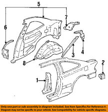 HONDA OEM 93-95 Civic Inner-Quarter Panel-Inner Wheel Well Right 64330SR8A00ZZ