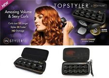 NEW! TopStyler Heated Ceramic Styling Shells Hair Curlers with Case 2 PACK