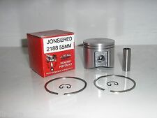 JONSERED 2188, CS2188 PISTON KIT 55MM DIAMETER REPLACES PART #  537420202, NEW