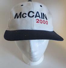 John McCain 2000 Presidential Primary Baseball Cap Hat Snapback