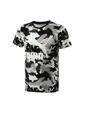PUMA mens t shirt tee top S M L camo black/white /beige cotton SLIM/CLOSE FIT