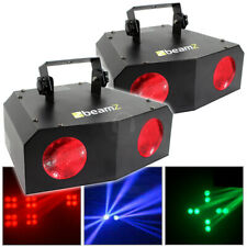 More details for 2x beamz 2 lamp nomia colour led disco dj lights lighting package ttb4662