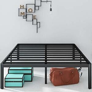 Zinus Van 16 Inch Metal Platform Bed Frame with Steel Slat Support / Mattress