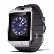 Bluetooth montre Smart Watch téléphone GSM Carte SIM pour iPhone Android NOIR HL