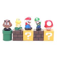 Super Mario Bros Figures Toys - 5 Pcs Set Blocks Action Characters (5cm)