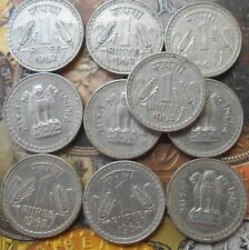 10 Coins LOT - 1962 - 1 Rupee Nickel – 10 g – ø 28 mm - india