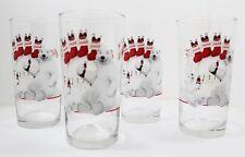 Coca Cola Polar Bear Father And Son Christmas Glasses Lot Of 4