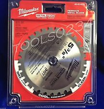 "Milwaukee 48-40-4070 Ferrous Metal Circular Saw Blade 5-3/8"" 30T Free Ship"