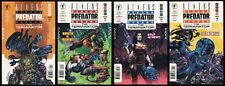 Aliens vs Predator vs The Terminator Comic Full Set 1-2-3-4 Lot Mel Rubi art AvP