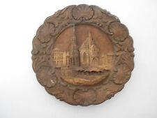 "Vintage Wooden Hand Crafted Plate, ""Nurnberg Hauptmarkt"""