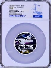 850 Mintage 2018 Star Trek The Original Series Ships 2oz Silver Coin NGC PF70 FR