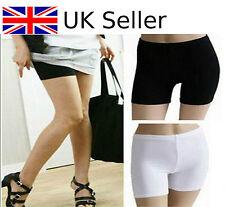 Pantalones cortos de seguridad Mujeres Dama Moda Pantalones Leggings Yoga Sin Costuras básica Lisa Blanco