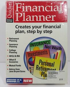 """Quicken Financial Planner Windows Version 2 for Intuit 3.5"""" Floppy NEW"""