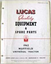 Lucas NUFFIELD Universal Tractor 1962 CE832J Electrics Equipment & Spare Parts