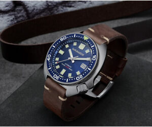 SAN MARTIN SN047-G BLUE TURTLE 6105 AUTOMATIC DIVE WATCH *NH35A* *UK SELLER*