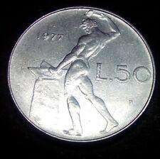 Moneta Coin ITALIA Repubblica Italiana 50 Lire Vulcano 1977