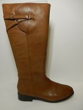 *New*  Trotters Women's Lucky Too Wide Shaft Riding Cognac Brown Boots Size 12N