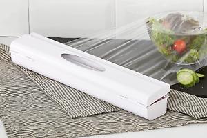 WENKO Folienschneider Perfect-Cutter Weiß - Folienspender, Kunststoff (ABS)