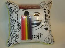 NEW Emoji Happy Face Poop Color Me Pillow Markers Kit