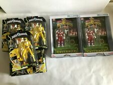 Lot of 6 Power Rangers 2x Auto Morphin Red & 4x Yellow Legacy Ranger Figure New
