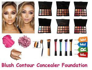 New 15 Colours Concealer Palette Collection Face Makeup Cream Contour+Free Brush