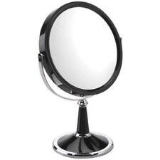 Famego 10x Magnifying Black And Chrome Pedestal Mirror - Shaving & Make-Up(5437)