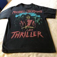 Bravado Michael Jackson Thriller T Shirt Short Sleeve Black Zombie Art Small